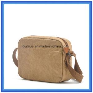 Factory Make New Material DuPont Paper Messenger Bag, Eco-Friendly Promotion Tyvek Paper Shopping Shoulder Bag with Nylon Adjustable Belt pictures & photos