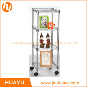Four Shelves Rolling Cart Chrome Finish for Store/Home Use pictures & photos