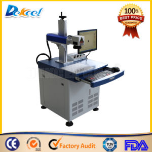 China 20W Desktop CNC Fiber Laser Marking Machine for Leather pictures & photos