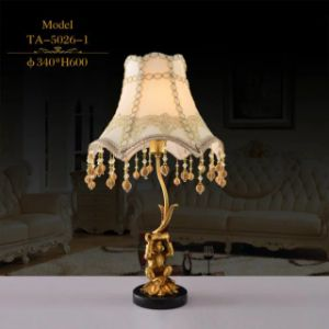 Best Seller High-End Luxuriant Brass Hotel Table Lamp/Table Light/Lighting (TA-5026-1) pictures & photos