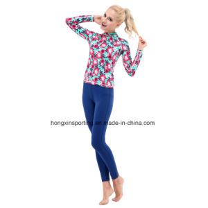 Two-Piece Lycra Rash Guard, Swimwear, Yoga Sports Wear, pictures & photos