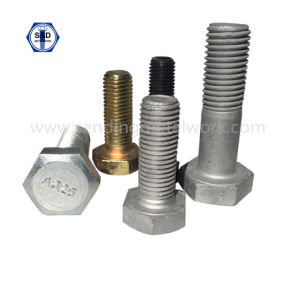 ASTM A325 Heavy Hexagonal Structural Bolts High Tensile pictures & photos