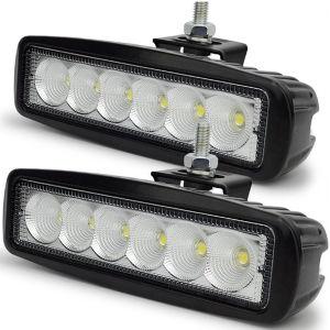 1700lm SUV Car Truck Work 6 LED Beam Aluminum Bar 18W Flood Light pictures & photos