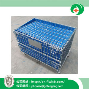Folding Wire Mesh Cage for Warehouse by Forkfit pictures & photos