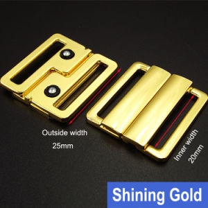 25mm Shining Gold Metal Buckle for Swimwear pictures & photos