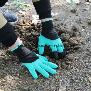 Handed Garden Genie Gloves with Claws on Left Hands for Digging and Planting Right&Left Garden Gloves with Fingertips Uniex Lefty Claws Quick & Easy pictures & photos