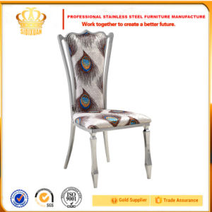 Cy016# Peacock Grain Fabric Dining Chairs pictures & photos