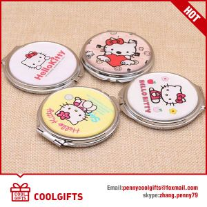 Bronzed Epoxy Stainless Make up Pocket Mirror with Double Side pictures & photos