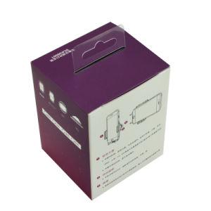Custom Printed Cardboard Advertising Packaging Box with Die Cut Handle