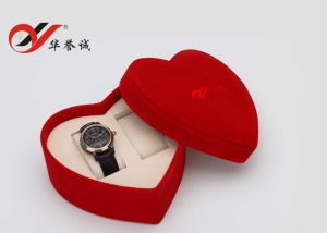 Heart Shape Red Velvet Double Watch Box pictures & photos