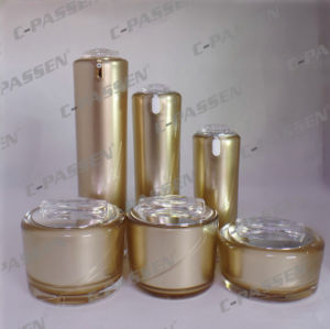 New Arrival Mirror Gold Acrylic Cream Jar Lotion Bottle for Cosmetic Packaging (PPC-NEW-074) pictures & photos