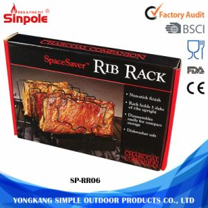 Durable Economical Customized Styles Stainless Steel BBQ Rib Rack pictures & photos