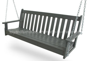 New Hot Heavy Duty Strong Structure Outdoor Leisure Furniture Adult Polywood Garden Swing pictures & photos