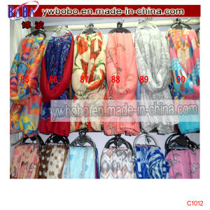 Yiwu Market Polyester Scarf Silk Scarf Stock Freight Agent (C1012) pictures & photos