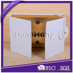 Gold Ribbon Decorative Handmade Cardboard Perfume Box Design pictures & photos