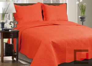 Orange Color Ultrasonic Quilt/Bedspread pictures & photos