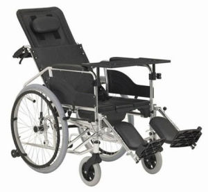 Commode Wheelchair Aluminum Wheelchair (Hz123-02-16) pictures & photos