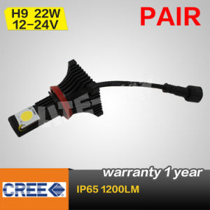 Pair High Power H9 22W CREE LED Head Light