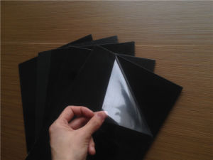 0.5mm Yellow Paper Both Sides Adhesive PVC Sheet pictures & photos