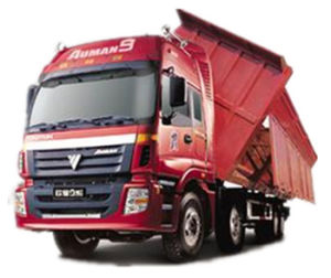 ISO CCC Approved Side Dumping 4axle Tipper Truck pictures & photos