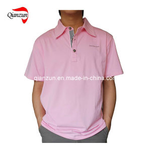 2013 Pink 100% Cotton Men′s Polo T-Shirts (ZJ-6281) pictures & photos