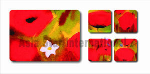 Square Flower Printin Cork Coaster for Gift (CC19) pictures & photos