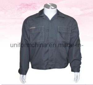 Customized Simple T/C Work Jacket for Industry, OEM Cheap Workwear (EM201)