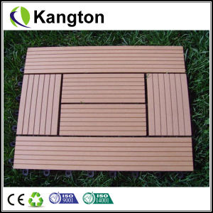 Outdoor Interlocking Wood Plastic Composite Deck WPC Tiles (WPC tile) pictures & photos