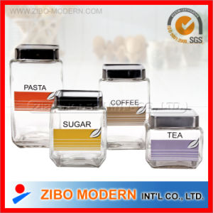 Food Coffee Sugar Tea Glass Canisters Glass Storage Jar pictures & photos