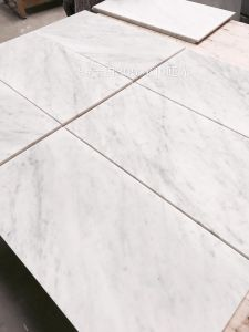 Carrera White Flooring Tile Slabs Bianco Carrara White Marble Tiles pictures & photos