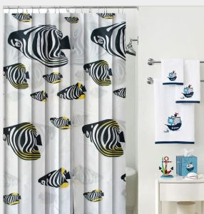 PEVA/PVC Waterproof Shower Curtain with Hooks pictures & photos