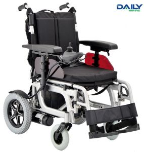 Ce Al Frame Folding Comfortable Power Wheelchair with Different Seat Size pictures & photos
