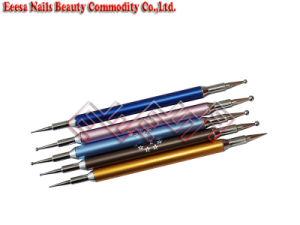 Eeesa Professional Nail Art Decorations Painting Set Acrylic Nail Gel Kit Picker Pencil Gemstone Stamper 2 Way Nail Striper Dotting Tools Brushes DIY Design