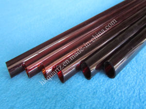 Red Quartz Glass Tube Red Tubes with Reach (HKQT-056) pictures & photos