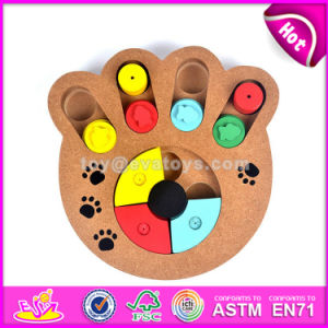Wholesale Creative Paw Shape Wooden Interactive Dog Toys Best Design Pet Iq Training Wooden Interactive Dog Toys W06f035 pictures & photos