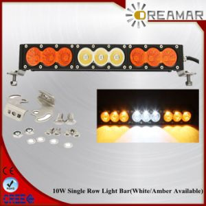 90W 16.6inch Single Row with White/Amber Color LED Light Bar pictures & photos
