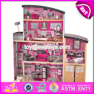 New Style 30 Furniture Pieces Children Pretend Play Wooden Giant Doll House W06A222 pictures & photos