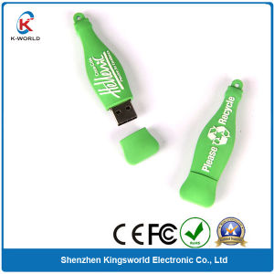 Green PVC 2GB Bottle USB Flash Drive