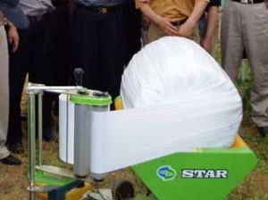 Grass Bundle Film Wrapping Machine, Star Brand, 1.4HP