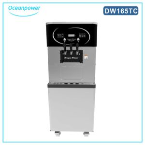 Soft Serve Ice Cream Machine Maker with Air Pump Model 165tc pictures & photos
