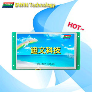 7.0 Inch Smart Uart Interface TFT LCD Module/HMI, Touch Screen Optional, Dmt80480c070_02W
