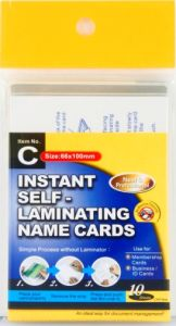 Instant Self-Laminating Name Card (Item C) pictures & photos