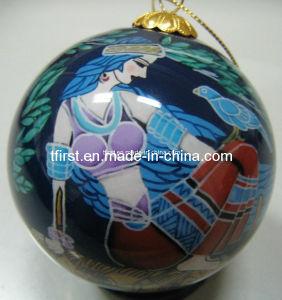 Glass Christmas Ball With Inside Painting (B012)