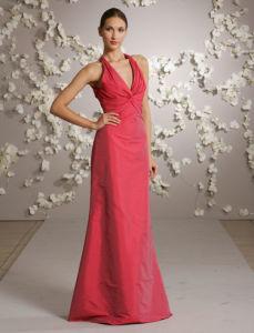 V-Neck Taffeta Evening Dresses (jim-lmb006a)