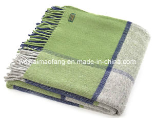 Pure Wool Travel Blanket/Wool Travel Throw pictures & photos