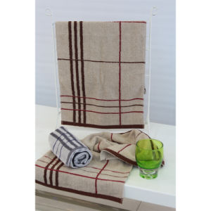 100% Cotton Yarn Dyed Jacquard Satin Band Towel