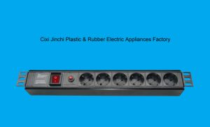"1.5U 19"" 6way Germany PDU with Switch and Overload Protector"