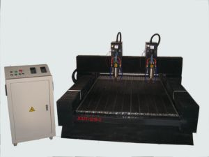 Two Heads Stone CNC Carving Machine/Marble CNC Engraving Machine (JCUT-1218-2)