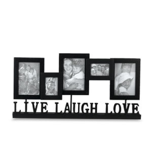 live laugh love standing 5 photo collage frame mmw026