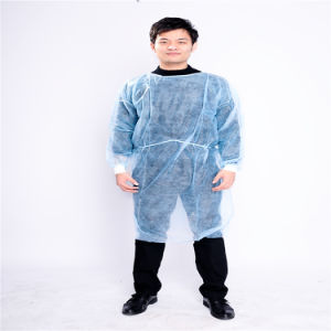 White Color Waterproof Disposable PP Isolation Surgical Gowns pictures & photos